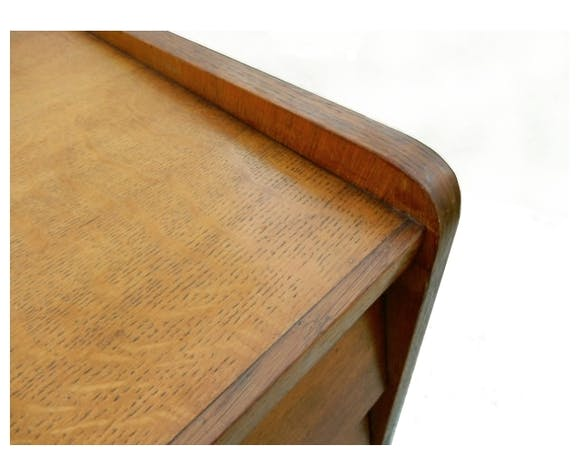 Commode vintage pieds compas bois clair