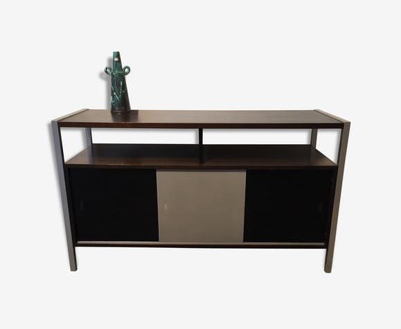 enfilade meuble platine vinyle bois mtal