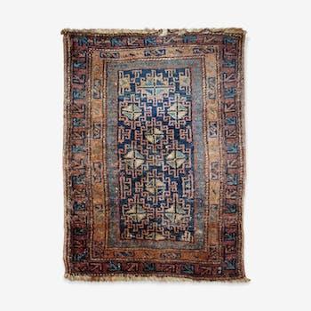 Tapis ancien Persan Kurdish fait main 66cm x 90cm 1900s