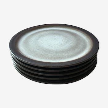 5 ceramic dessert plates Sweden