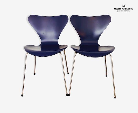 Paire de chaises Série 7 par Arne Jacobsen pour Fritz Hansen