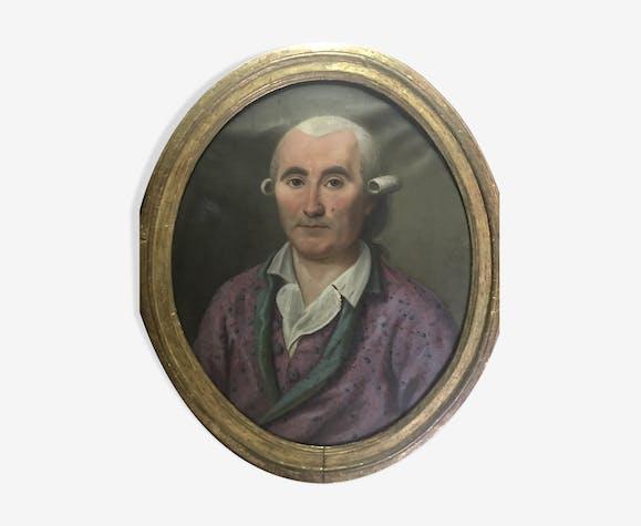 Ancien portrait d'homme école française fin XVIIIéme