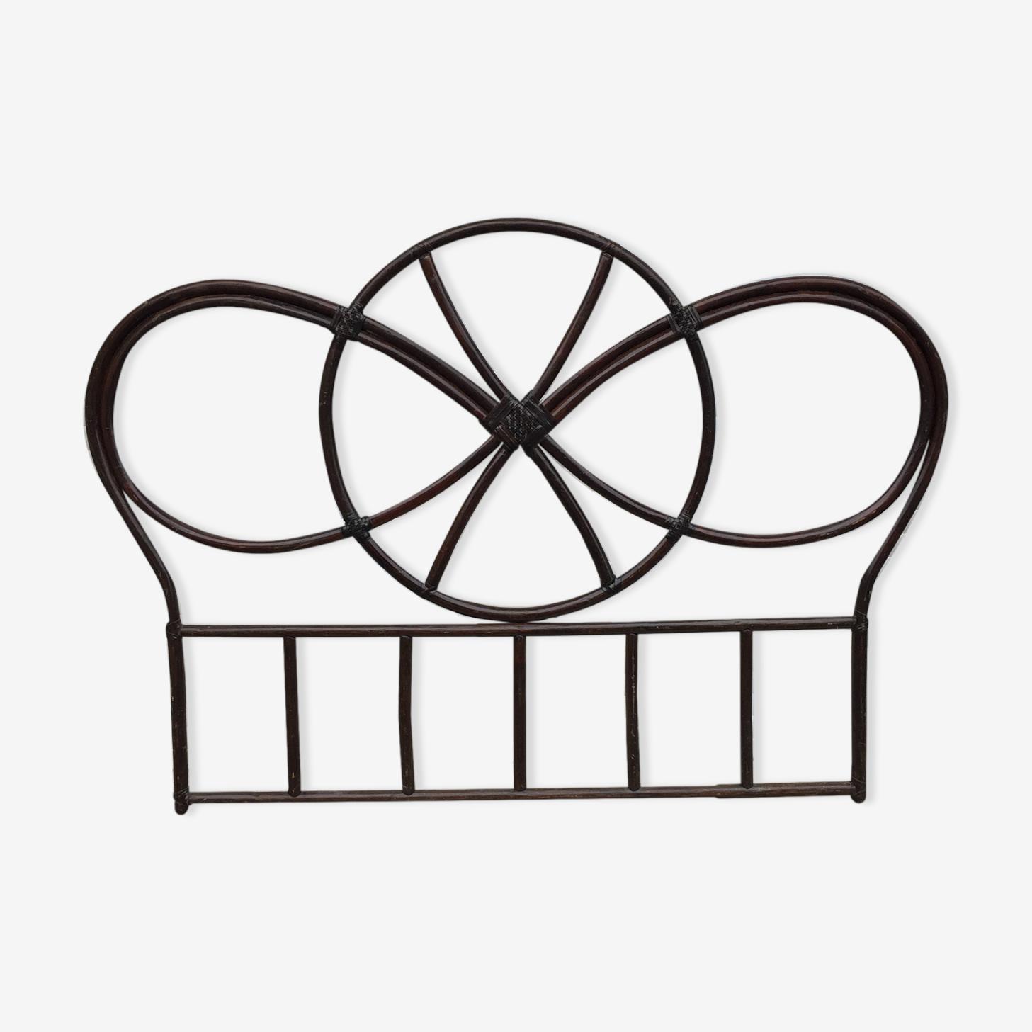 Vintage rattan headboard