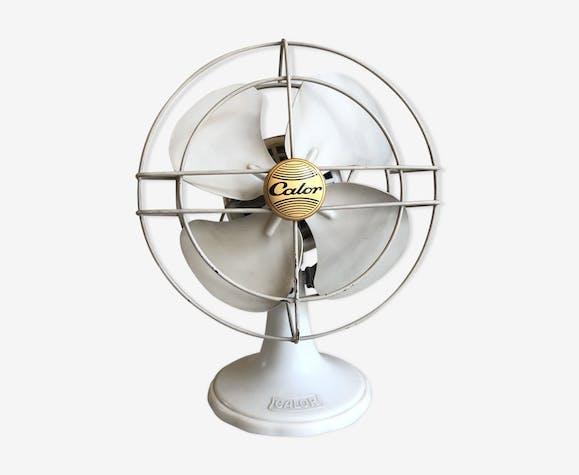 Ventilateur de bureau Calor 220v vintage 1957 bakélite & tôle laquée