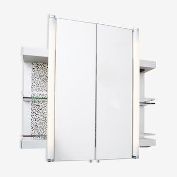 Armoire de salle de bain avec lumière designed by Ettore Sottsass pour Sottsass Associaiti