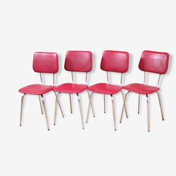 Lot de 4 chaises de cuisine vintage