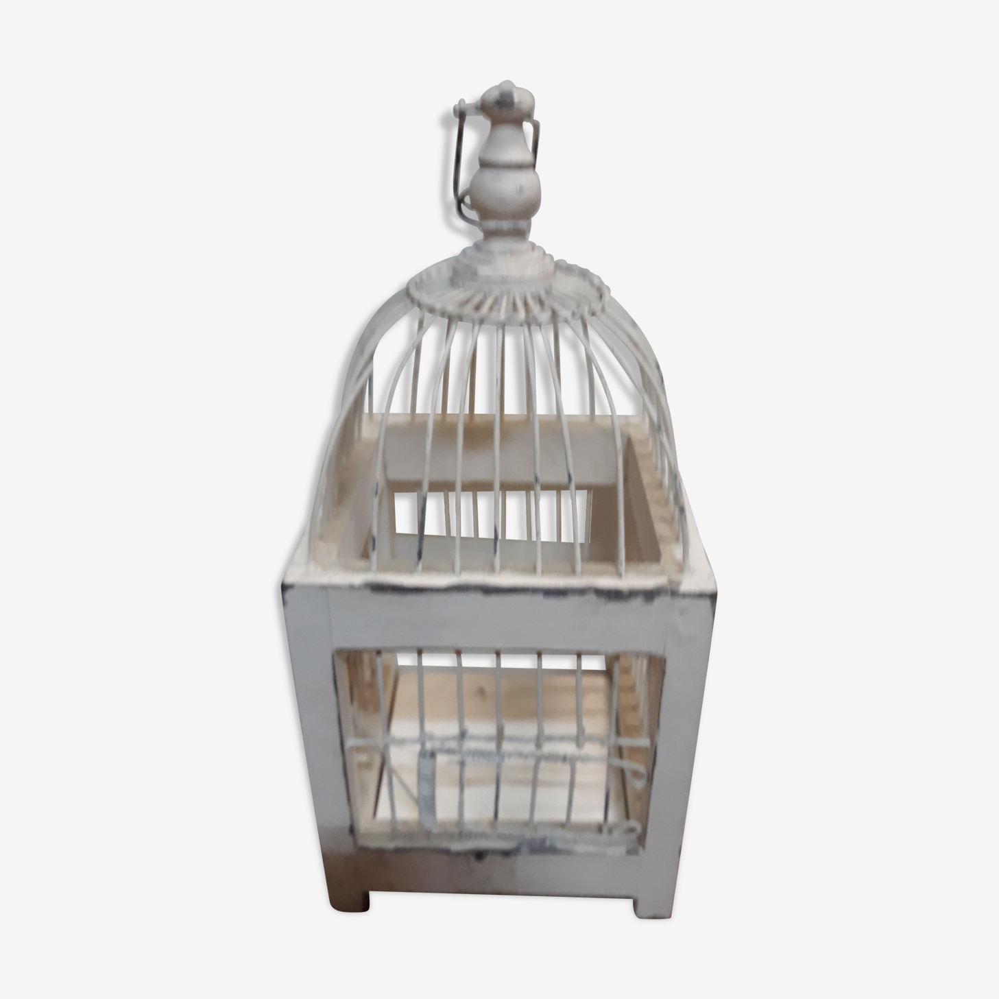Cage à oiseaux shabby