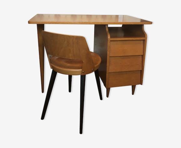 Bureau et chaise vintage années 70