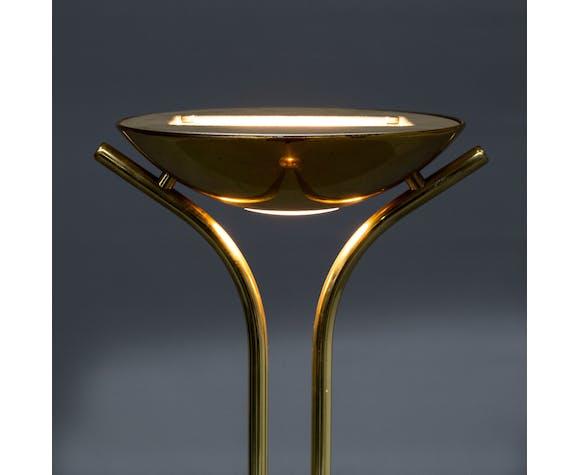 Lampadaire halogène en laiton des années 80 pour Wofi Leuchten
