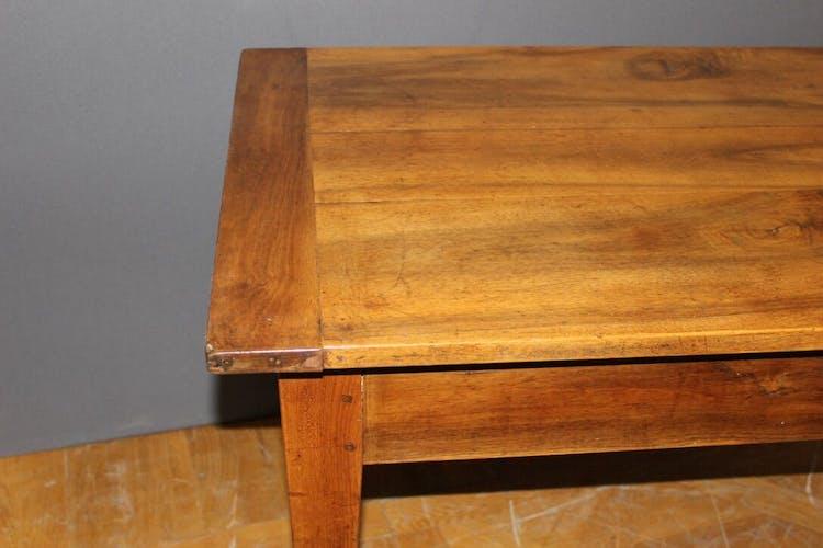 Table de bistrot en noyer XIXe