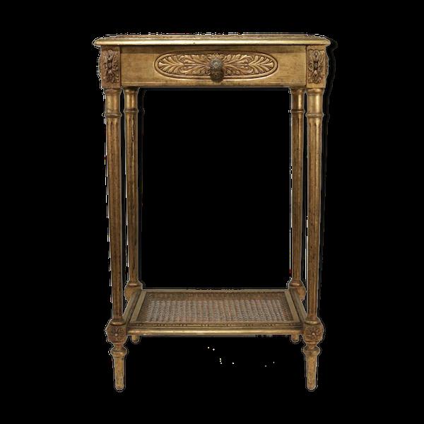Console avec un tiroir en ceinture de style Louis XVI de bédut du XXème siècle