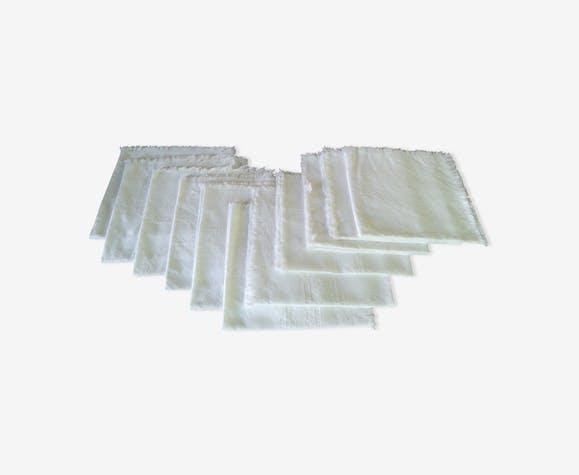 Ensemble de 12 serviettes en coton damassé