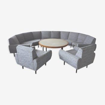 Canapé sofa Arc XXL et 2 fauteuils danois des années 60/70
