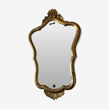Vintage mirror 1950 70x45cm golden wood