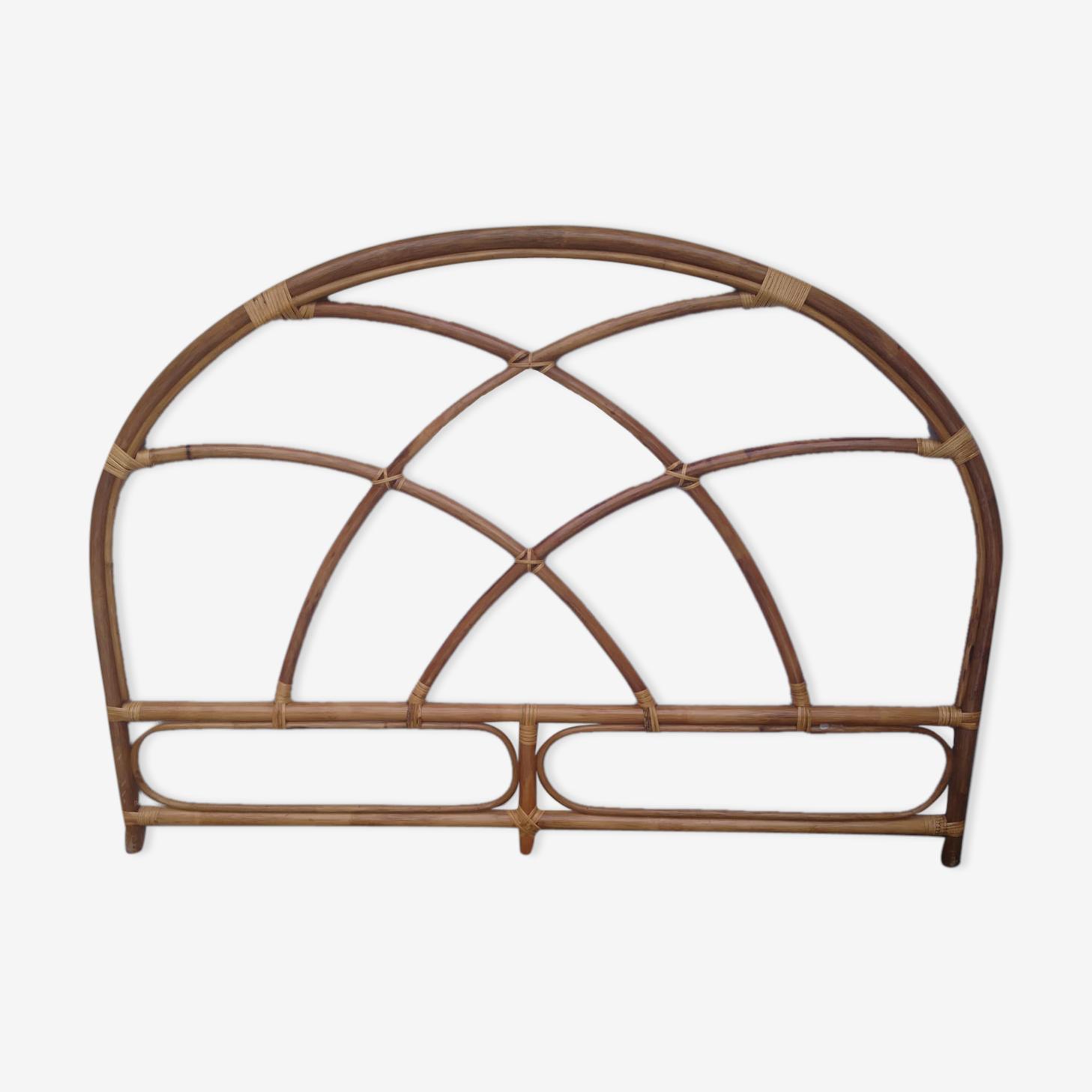 Tête de lit en bambou des années 1960