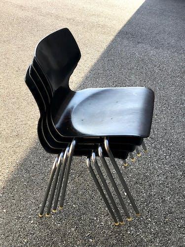 Lot de 4 chaises Flötotto pour Thonet vintage années 60