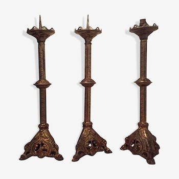Three Spades candles Renaissance style brass Suite
