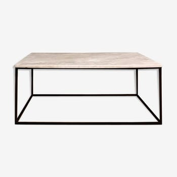 Marble metal coffee table