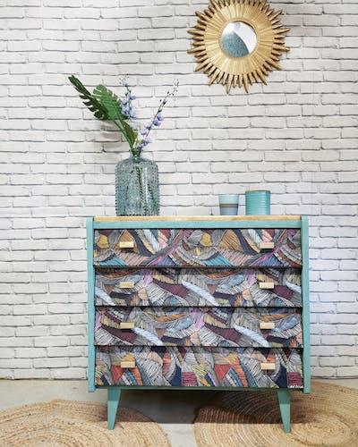 Commode vintage tiroirs inclinés