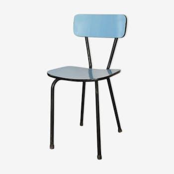 chaise de couleur bleue vintage d 39 occasion. Black Bedroom Furniture Sets. Home Design Ideas