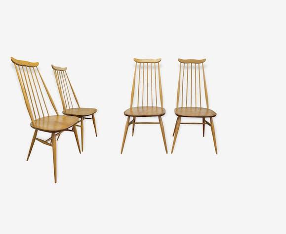 """La chaise modèle """"Goldsmith"""" à barreaux en hêtre Ercol (marque anglaise de mobilier depuis 1920) des années 1960"""