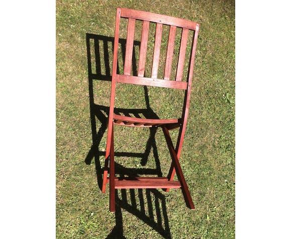 Chaises de jardin pliante  en teck