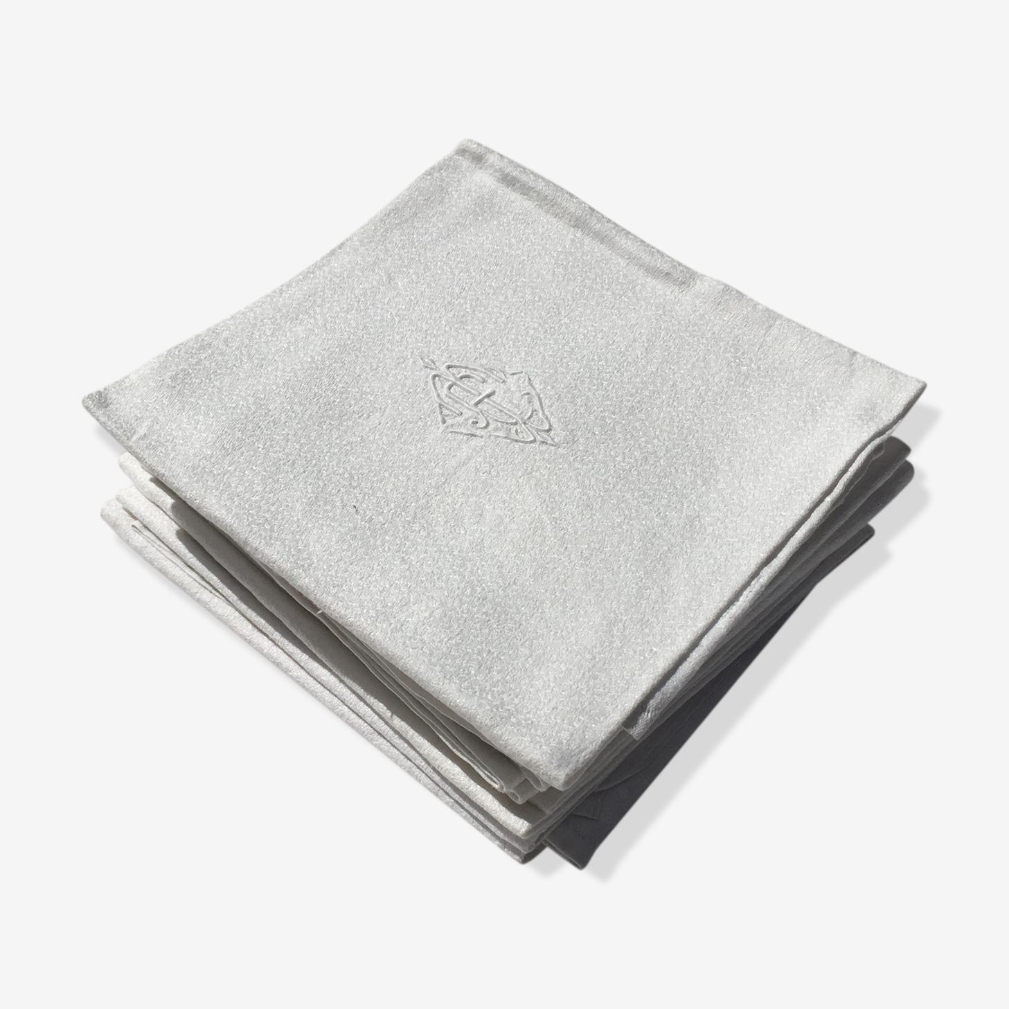 Lot de serviettes monogramée