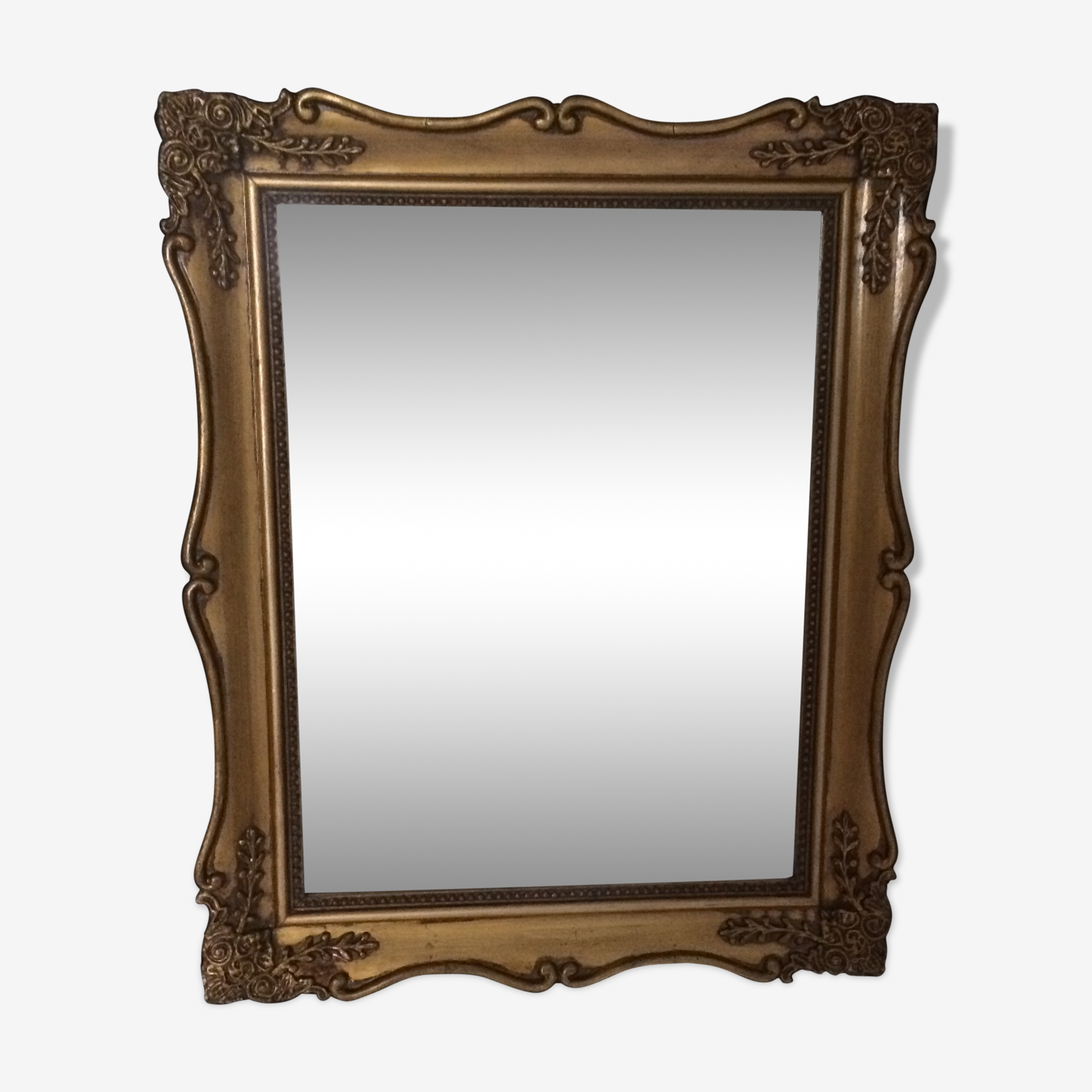 Antique golden mirror 50x40cm