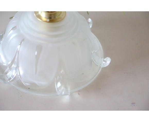 Suspension en verre dépoli, vintage