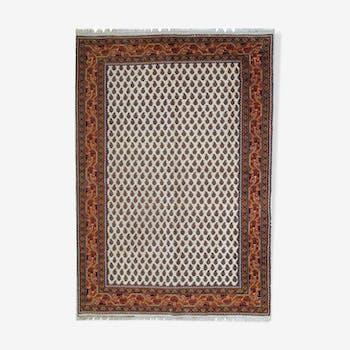 Carpet vintage Indian seraband 1980 hand made style - 108x62cm