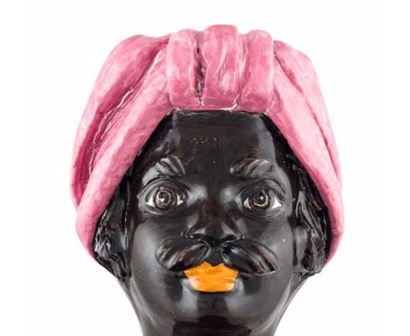 Vase tête mini rose homme