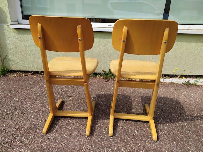 Lot de 2 chaises Casala enfants  - vintage