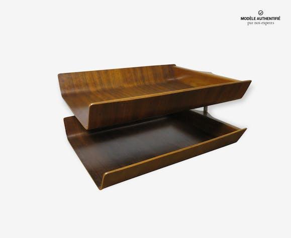 Organiseur de bureau florence knoll 1955 bois matériau marron