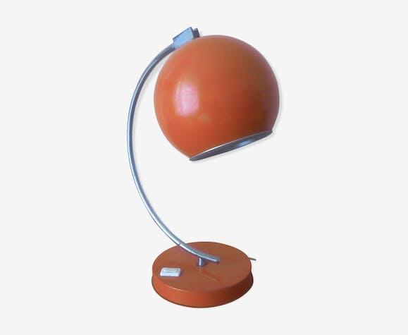 Des 60 Bureau De Années Métal Orange Lampe Ronde 1FJlcTK