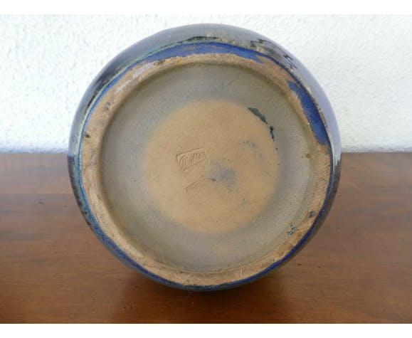 Vase irisé Alphonse Cytere Rambervillers unis art nouveau