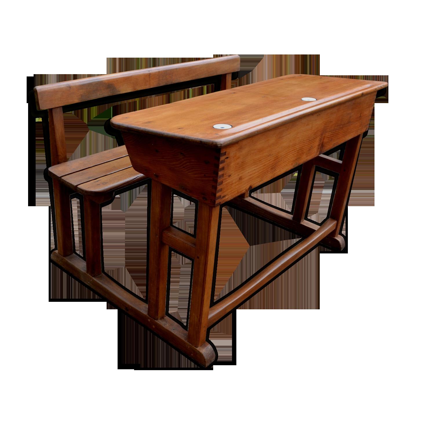 Bureau enfant bois matériau bois couleur vintage atqkkcy