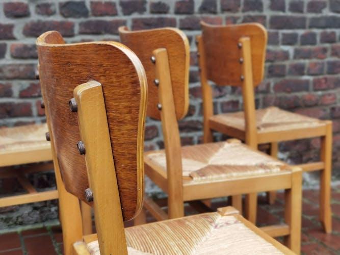 Lot de 6 chaises Pierre Cruege
