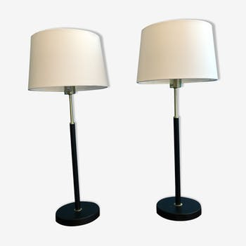 Pairs of scandinavian bedside table lamps
