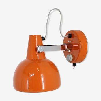 Lampe de mur orange du milieu du siècle/Lidokov, 1970