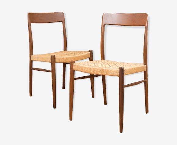 Paire de chaises modèle 77, Niels Otto Moller