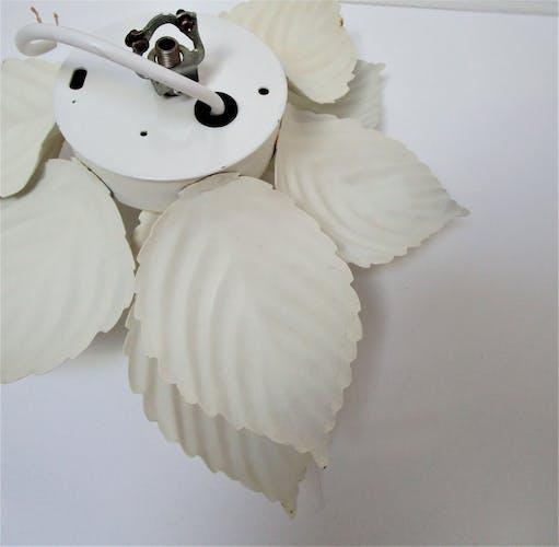 Applique fleur Masca métal blanc crème vintage