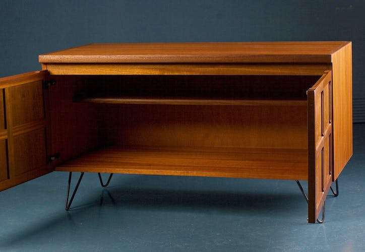 Nathan Mid Century Retro Teak Small Sideboard TV Record Cabinet 1970s