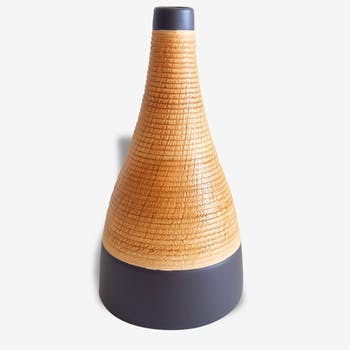 Two-tone, Brown and camel vase