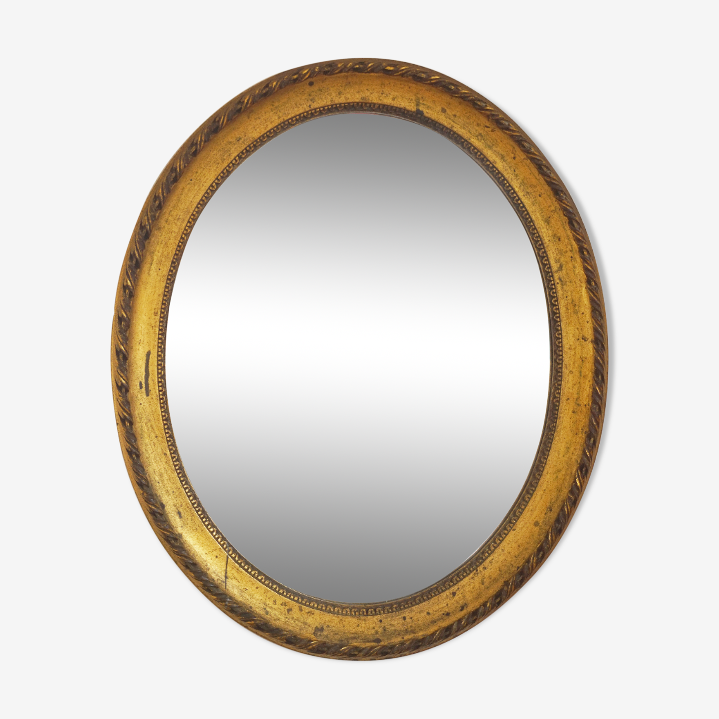 Mirror former oval gold classic 58x48cm