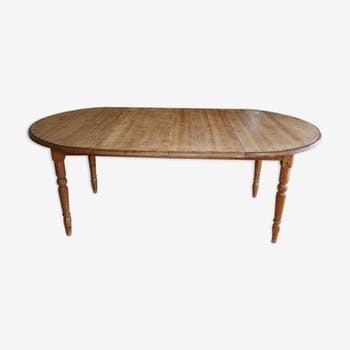 Table de salle à manger en bois massif pieds tournés