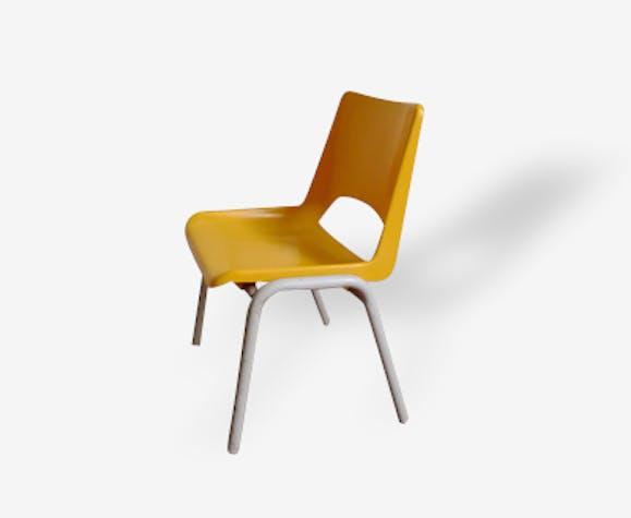 Plastique 12357 Vintage Jaune Chaise Mini Maternelle bfY7g6y
