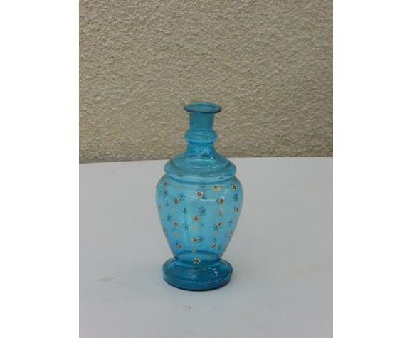 Pair of blue blown glass vials