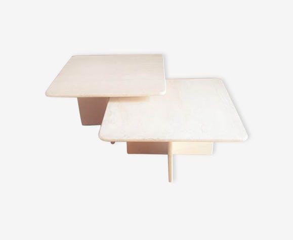 Tables basse en travertin