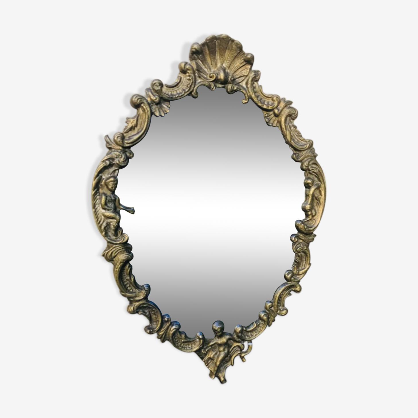 Mirror brass 28x41cm
