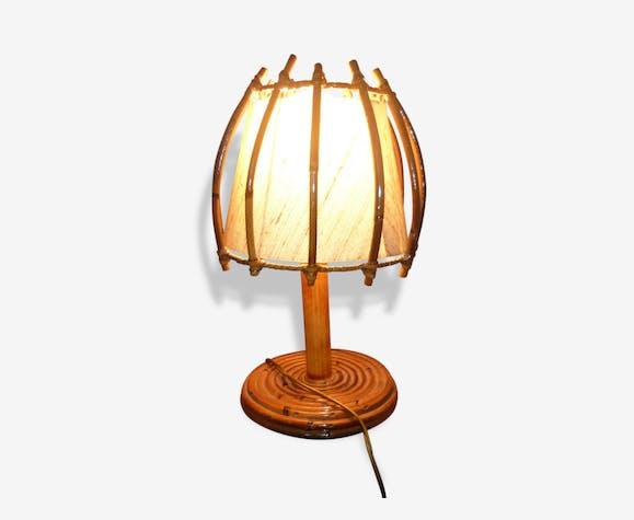 Et Lampe Oknp0w Rotin Osier Marron Chevet 196070 Vintage vnOm80wN